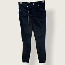 Revolve BlankNYC Moonglow Velvet Skinn Jeans Black Womens Size 24 New With Tags