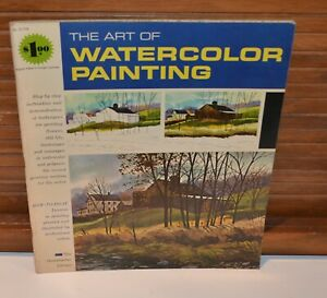Vintage 1960s Art of Watercolor Painting Grumbacher Library Instruction book
