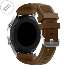 Brown 22 mm Rubber Silicone Replacement Watch Band Strap Quick Release Pins #047