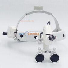 3,5X420 Dental chirurgische lupenbrille Lupe zahnarzt loupe mit LED-Scheinwerfer
