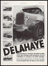 Publicité Camions Delahaye  Poids Lourds Trucks  vintage print ad  1931 - 10h