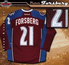 PETER FORSBERG Signed & Inscribed Colorado Avalanche Burgundy Reebok Jersey