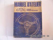 MANUEL D'ATELIER HONDA CIVIC 1300 1300 BREAK  K19