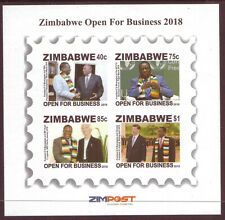 ZIMBABWE - 2018 OPEN FOR BUSINESS - IMPERFORATED  MINI SHEET - MINT NEVER HINGED