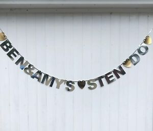 Personalised STEN DO. Stag and Hen Do party Banner bunting Sten Party Bunting