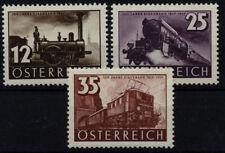 Postfrische Briefmarken mit Eisenbahn österreichische als Satz