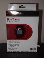 NEW Genuine GNC RaceTrainer Digital Heart Rate Monitor & Watch Black/Red w/Alarm