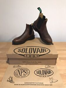 NPS SOLOVAIR Brown Greasy Leather Dealer Chelsea Boot! Size UK7! New! Only £149!