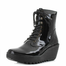 FLY London Zip Wedge Boots for Women