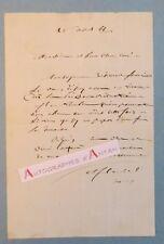 L.A.S 1866 Abbé Antoine FLAGEL Directeur Grand Séminaire de la Rochelle Lettre