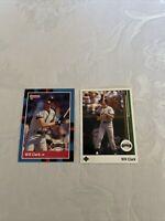 1988 Donruss Will Clark San Francisco Giants #204, 1989 UD #155 Lot Of 2