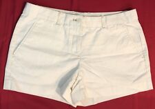"Gap Womens Shorts White Button Flat Front 3.5"" Inseam"