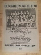 Spitballs Beserkley united  1978 press advert Full page 28x 39cm poster