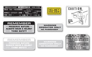 Honda CT70 Mini Trail - 6 Piece Warning & Service label set