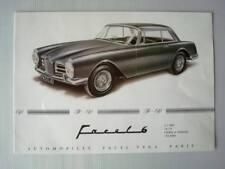 FACEL VEGA: FACEL 6 - Car Brochure - c1963 - French, English and German Text
