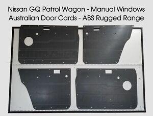 Nissan GQ Y60 PATROL Manual Window. Rugged Waterproof ABS Door Panels - Grey