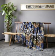 """60""""x80"""" Blanket Twin Size The Woods Super Soft Cashmere Throw Navy Blue DCB3014"""