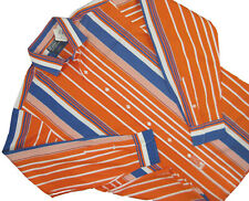 NEW $125 Polo Ralph Lauren Shirt!  XL  Orange Striped  Classic Fit  Estate Style