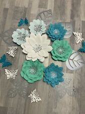 Flower Paper Set. Flowers Paper Wall Decor. Nursery Flowers Paper.