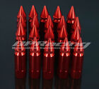 20pcs Red M12 x 1.5 Spiked Lug Nuts Extended Tuner Wheel/Rims For Honda Acura