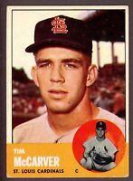 1963 Topps Baseball #394 Tim McCarver St. Louis Cardinals - 5th Series
