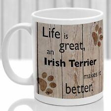 Terrier irlandais chien mug, Irish Terrier Chien Cadeau, Idéal Cadeau Pour Dog Amant
