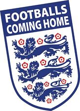 FOOTBALLS COMING HOME Its England Badge Printed Vinyl Car Sticker 90x150mm