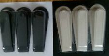 Heavy Duty Rubber Door Wedges BLACK/Vannila Premium Traditional Stopper/Jam UK