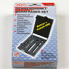 BGS Schweisspunktfräser Schweisspunkt Bohrfräser Set Doppel Fräskrone 10 tlg.
