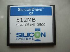 5PCS   SILICON SYSTEM 512MB CF  Compact Flash memory card SSD-C51MI-3500
