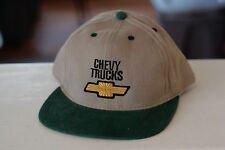 Rare Vtg Chevy Trucks Bow Tie Logo Trucker Snapback Hat Cap
