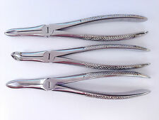 Free Ship AAYMED 3 Pcs. Dental Extracting Forceps # 41, 44 & 45 Oral Surgery