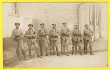 cpa CARTE PHOTO 159e Régiment Caserne Fusils Militaires Soldats Uniformes