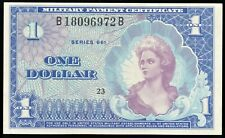 Series 661 $1 MPC Military Payment Certificate Crisp Uncirculated