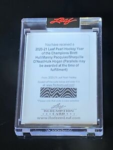 2020-21 Leaf Pearl Year of the Champion Hull / Pacquiao / Hogan / ONeal Auto SP