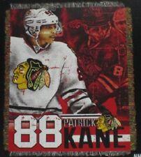 New Patrick Kane Chicago Blackhawks Woven Gift Throw Blanket NHL Hockey Team NIP