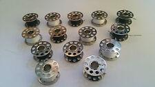 15 X  STANDARD  THREADED METAL SEWING MACHINE BOBBINS/SPOOLS