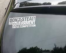 Don't Steal Funny Car/Window JDM VW EURO Vinyl Decal Sticker