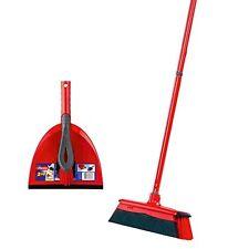 Vileda DuActiva Besen mit dreiteiligem Stiel und 2in1 Kehrset Reinigungswerkzeug
