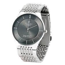 Herrenuhr: Herren-Armbanduhr aus Edelstahl, spritzwassergeschützt (3 atm)