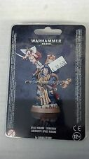 Warhammer 40K SPACE MARINE LIBRARIAN With Force Staff & Cyber-Cherub New Sealed