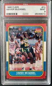 1986 Fleer #72 Xavier McDaniel Sonics Rookie Card- PSA 9 MINT