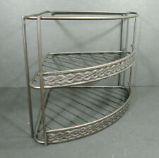 Metal Corner Rack Shelf Bronze Color