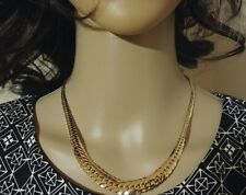 Estate 14k yellow gold 'Cleopatra' necklace - STUNNING!  Christmas Hanukkah!
