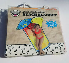 "Giant Size Cocktail Beach Blanket BigMouth Towel New 75.5"" X 59.5"" Free Ship"