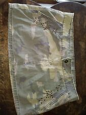 JORDACHE CAMO MINI SKIRT WITH POCKETS JUNIOR SIZE 7-8 100% COTTON PREOWNED