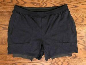 Lululemon Men's T.H.E. Shorts Mesh Blue Luxtreme Liner Men's 2XL 6.5 Inch Inseam