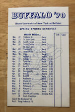 RARE 1970 UB University at Buffalo Spring Sports Schedule Baseball,Tennis,Track