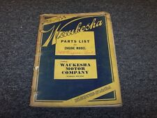 Waukesha 145 145GS 145HS 145GZ 145GK 145HK Series Engine Parts Catalog Manual