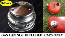 "3pk 1-1/2"" Vented Metal Gas Can Cap w/ Cardboard Liner Eagle Briggs Stratton Lid"